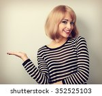 beautiful makeup blond woman... | Shutterstock . vector #352525103