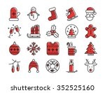 collection of christmas winter... | Shutterstock .eps vector #352525160