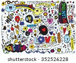 hand drawn vector illustration... | Shutterstock .eps vector #352526228