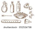 italian pasta sketch design... | Shutterstock .eps vector #352526738