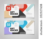 abstract gift voucher or coupon ... | Shutterstock .eps vector #352527638