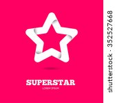 star vector logo. star icon.... | Shutterstock .eps vector #352527668