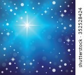 christmas snowflakes on a blue... | Shutterstock .eps vector #352528424