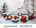 wedding decorations for car... | Shutterstock . vector #352528754