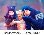 portrait of happy family... | Shutterstock . vector #352533830
