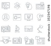 thin line education icon set... | Shutterstock .eps vector #352547198