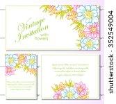 vintage delicate invitation... | Shutterstock .eps vector #352549004
