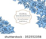 abstract flower background with ... | Shutterstock .eps vector #352552358