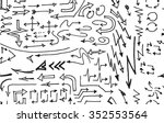 hand drawn doodle seamless... | Shutterstock .eps vector #352553564