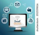 social media entertaiment...   Shutterstock .eps vector #352559816