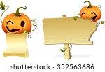 halloween pumpkin head invites... | Shutterstock .eps vector #352563686