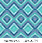 aztec style diamond zigzag... | Shutterstock .eps vector #352565024