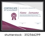 certificate template diploma... | Shutterstock .eps vector #352566299