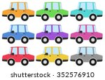 private car in different colors ... | Shutterstock .eps vector #352576910