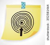 target doodle | Shutterstock . vector #352581464