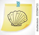 shell doodle | Shutterstock . vector #352584713