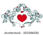 love hearts  | Shutterstock .eps vector #352586030