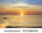 beautiful sunset on the coast... | Shutterstock . vector #352588058