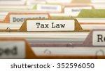 tax law   folder register name... | Shutterstock . vector #352596050