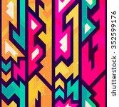 colored futurist seamless... | Shutterstock .eps vector #352599176
