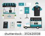 restaurant cafe set shop front... | Shutterstock .eps vector #352620038