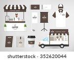 restaurant cafe set shop front... | Shutterstock .eps vector #352620044