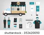 restaurant cafe set shop front... | Shutterstock .eps vector #352620050