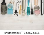 professional hairdressing tools ...   Shutterstock . vector #352625318