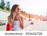 attractive brunette girl in... | Shutterstock . vector #352626728