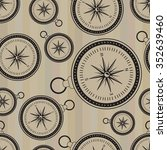 vintage compass seamless... | Shutterstock .eps vector #352639460
