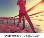 young fitness woman runner... | Shutterstock . vector #352639634