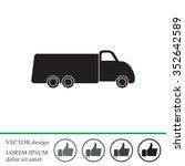 truck icon | Shutterstock .eps vector #352642589