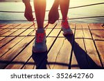 young fitness woman runner... | Shutterstock . vector #352642760