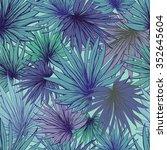 seamless leaves pattern in... | Shutterstock .eps vector #352645604