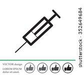 syringe icon | Shutterstock .eps vector #352649684