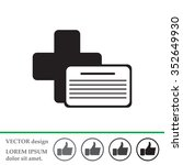 medical documents icon | Shutterstock .eps vector #352649930