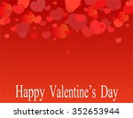greeting card for valentine's... | Shutterstock .eps vector #352653944