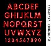neon glow alphabet. design... | Shutterstock . vector #352654883