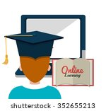 online learning and education... | Shutterstock .eps vector #352655213
