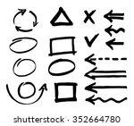 set of arrows  lines ...   Shutterstock .eps vector #352664780