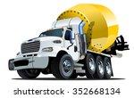 vector cartoon mixer truck...