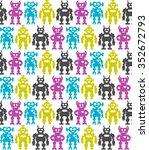 robots. seamless background | Shutterstock . vector #352672793