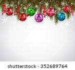 christmas background realistic... | Shutterstock .eps vector #352689764