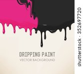 dripping two mixed paints... | Shutterstock .eps vector #352697720