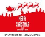 vector illustration. santa... | Shutterstock .eps vector #352705988