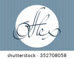 Alex hand lettering personal name, handmade calligraphy, vector template
