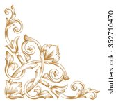 premium gold vintage baroque... | Shutterstock .eps vector #352710470