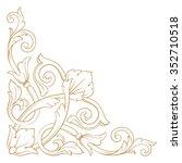premium gold vintage baroque... | Shutterstock .eps vector #352710518