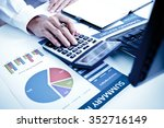 businessman analyzing... | Shutterstock . vector #352716149