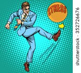 man hits ball with name stress... | Shutterstock .eps vector #352726676
